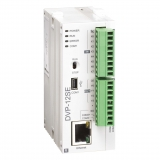 DVP12SE11R  Контроллер: 8DI, 4DO (Relay), 24V DC Power, 2 шины расширения, USB, поддержка Modbus TCP и Ethernet/IP