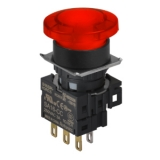 S16BR-H3RC12 RED/1C/LED 12V Грибовидная кнопка, 16 мм